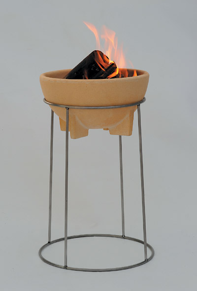 melting fire granicum xl thinking ceramic garden torch ebay. Black Bedroom Furniture Sets. Home Design Ideas