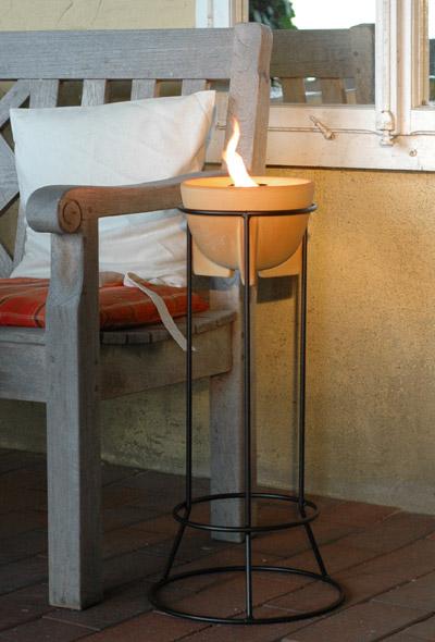 schmelzfeuer st nder outdoor denk keramik gartenfackel. Black Bedroom Furniture Sets. Home Design Ideas